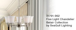 31791-962 - Belair Collection - Five Light Chandelier by Sea Gull Lighting