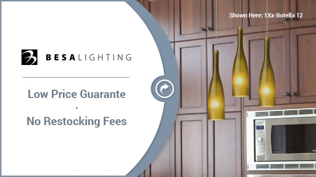 lifetime warranty 1 week or we pay you 25 - Besa Lighting