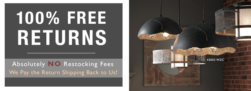 100% Free Returns: Absolutely NO restocking fees. We pay the return shipping back to us.