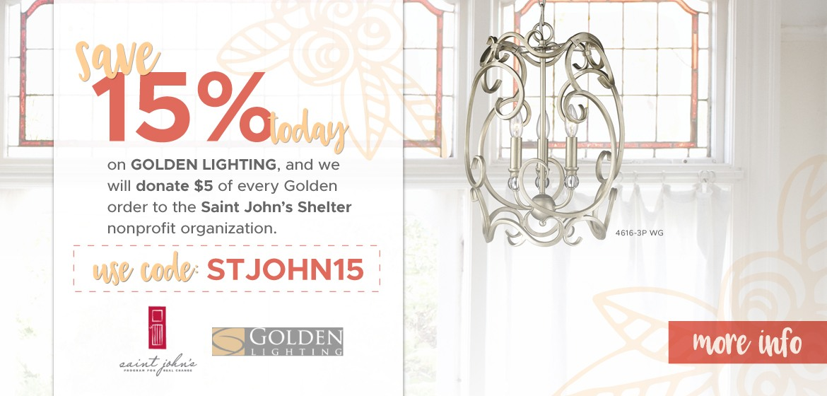 Save 15% on Golden Lighting