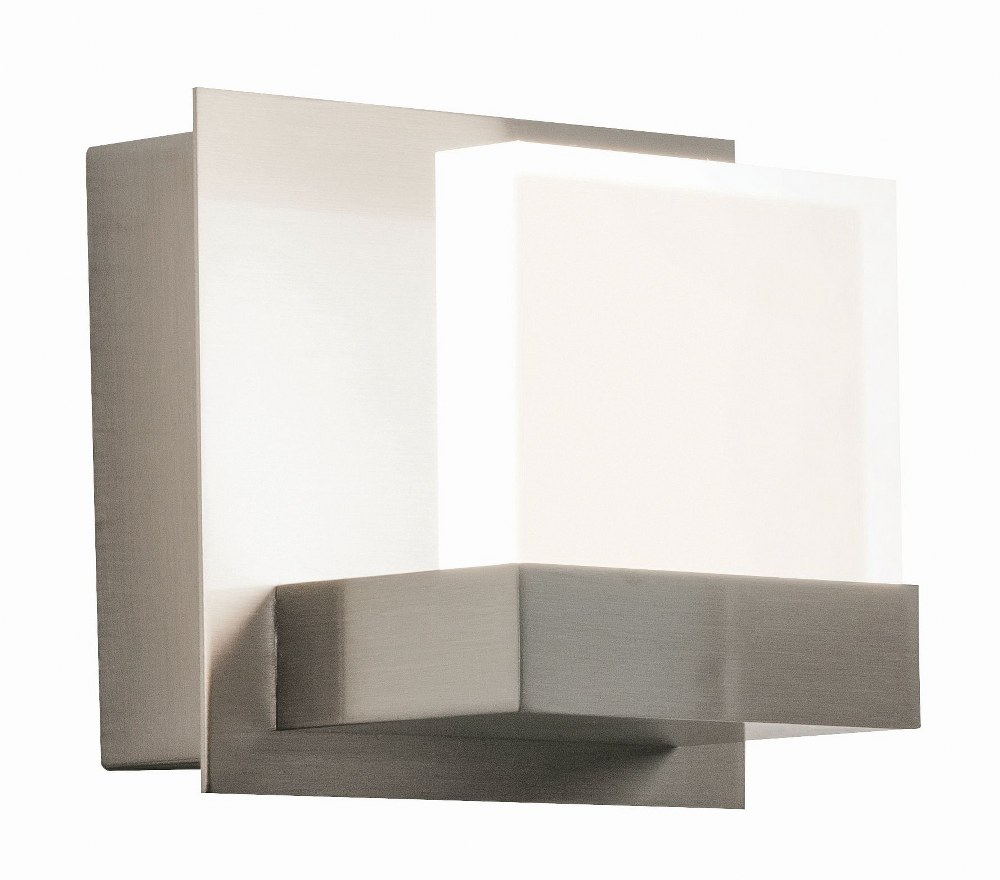 AFX-ARLS050407L35MVSN-Arlo - 4.6 Inch 120-277V 10W 1 LED Wall Sconce  Satin Nickel Finish with Frosted Acrylic Glass