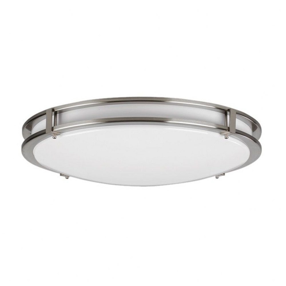 AFX-C2F141700L30MV-Cirrus - 14 Inch 17W 1700 Lumens 1 LED Flush Mount  White Finish with White Acrylic Glass