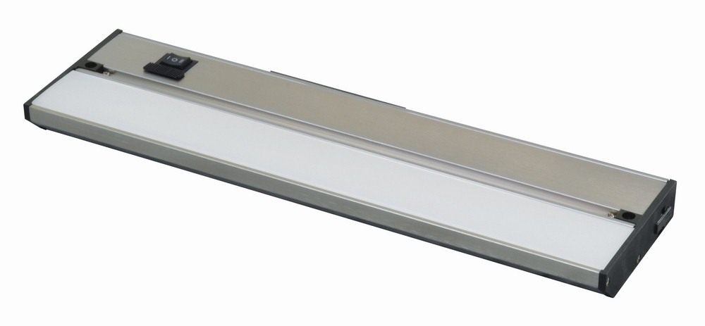AFX-NLLP2-09BA-Noble Pro - 9 Inch 5W 1 LED Undercabinet  Brushed Aluminum Finish with White Glass