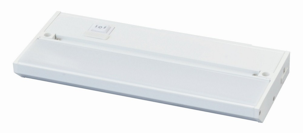 AFX-NLLP2-09WH-Noble Pro - 9 Inch 5W 1 LED Undercabinet  White Finish with White Glass