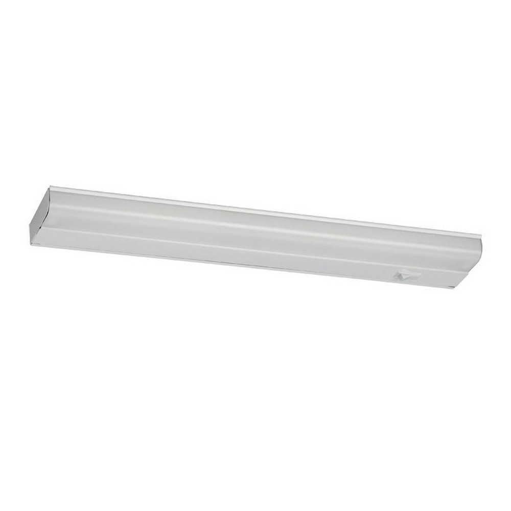 AFX-T5L2-24RWH-T5L - 24 Inch 9W 1 LED Undercabinet  White Finish with White Acrylic Glass