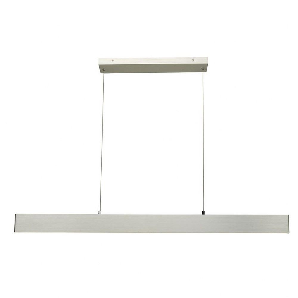 Abra Lighting-10095PN-BA-Slim - 32 Inch 21W 2 LED Cable Pendant  Brushed Aluminum Finish with White Glass