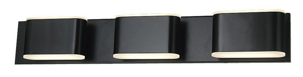 Abra Lighting-20046WV-BL-Bianca - 25.6 Inch 39W 6 LED Bath Vanity  Black Finish with Frosted Glass