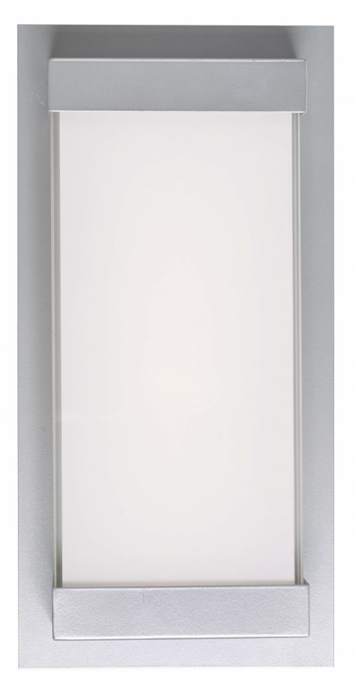 Abra Lighting-50014ODW-SL-Atom - 12 Inch 12W 1 LED Wall Sconce  Silica Finish with Frosted Glass