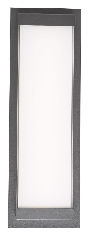 Abra Lighting-50015ODW-MB-Atom - 18.1 Inch 18W 1 LED Wall Sconce  Matte Black Finish with Frosted Glass