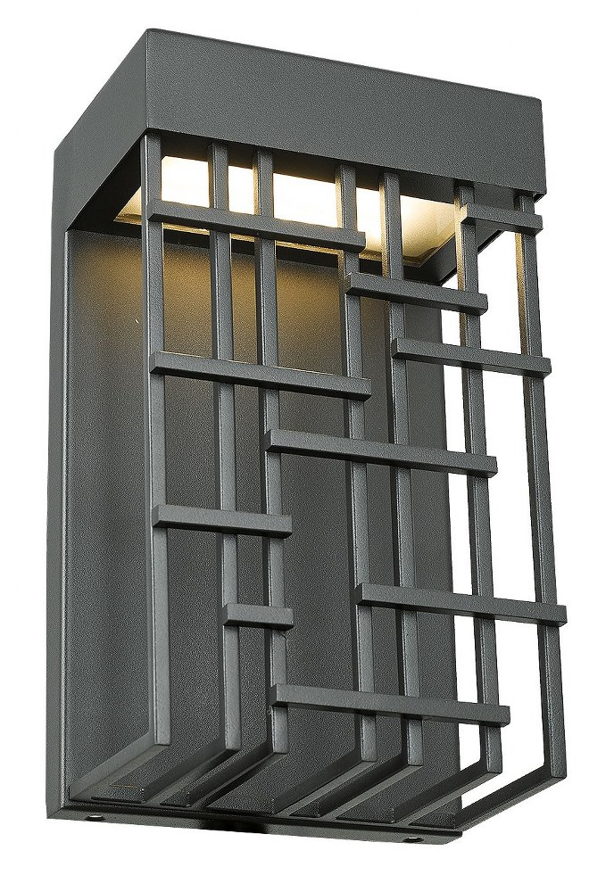 Abra Lighting-50060ODW-MB-Aspen - 10 Inch 15W 1 LED Outdoor Wall Sconce  Matte Black Finish with Frosted Glass