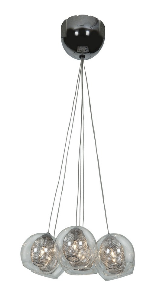 Access Lighting-52077-CH/CLR-Aeria - Seven Light Pendant  Chrome Finish with Clear Glass