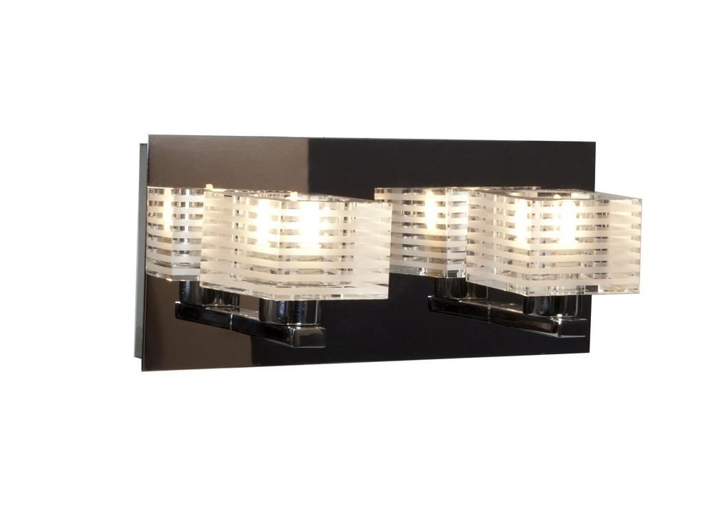 Access Lighting-62281-CH/CLFR-Sophie - Two Light Bath Vanity  Chrome Finish with Clear Frosted Glass