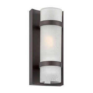 Acclaim Lighting-4700ABZ-Apollo - One Light Extra Small Wall Lantern  Architectural BronzeFinish with Frosted Seeded Glass