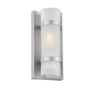 Acclaim Lighting-4700BS-Apollo - One Light Extra Small Wall Lantern  Brushed SilverFinish with Frosted Seeded Glass