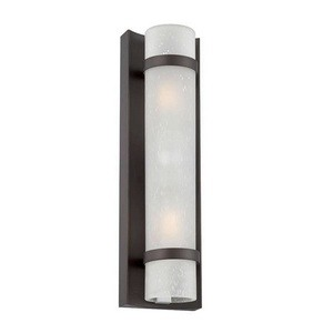 Acclaim Lighting-4701ABZ-Apollo - Two Light Small Wall Lantern  Architectural BronzeFinish with Frosted Seeded Glass