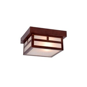Acclaim Lighting-4708ABZ-Artisan - One Light Small Flush Mount  Architectural BronzeFinish with Frosted Seeded Glass