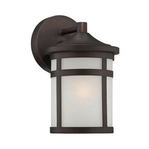 Acclaim Lighting-4714ABZ-Visage - One Light Wall Lantern  Architectural BronzeFinish with Frosted Seeded Glass