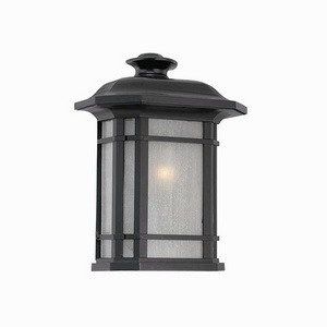 Acclaim Lighting-8103BK-Somerset - One Light Pocket Lantern  Matte BlackFinish with Frosted Clear Seeded Glass