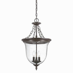 Acclaim Lighting-9316ABZ-Belle - Three Light Large Hanging Lantern  Architectural BronzeFinish with Clear Seeded Glass