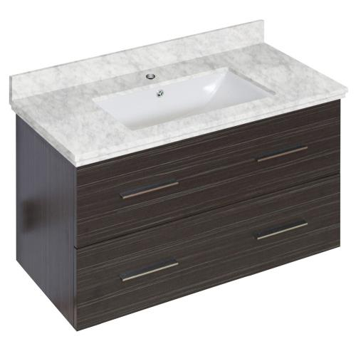 American Imaginations Ai 18631 Xena 36 Inch Wall Mount Vanity Set For 1 Hole Drilling With Top And Undermount Sink