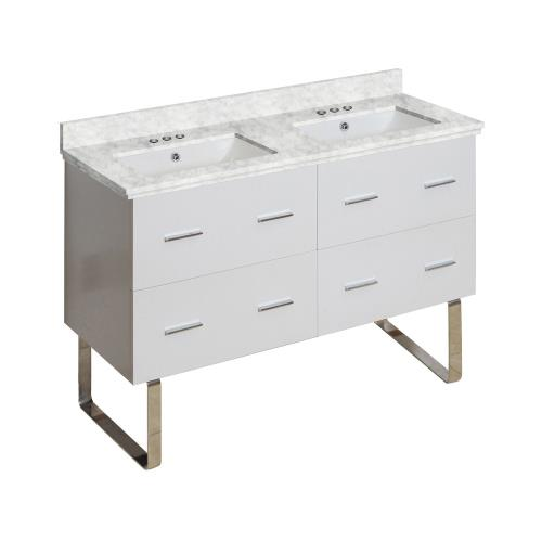 American Imaginations Ai 18925 Xena 47 5 Inch Floor Mount Vanity Set For 3h4 In Drilling With Top And Undermount Sink