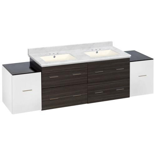 American Imaginations Ai 20112 Xena 76 Inch Wall Mount Vanity Set For 3h4 In Drilling With Top And Undermount Sink