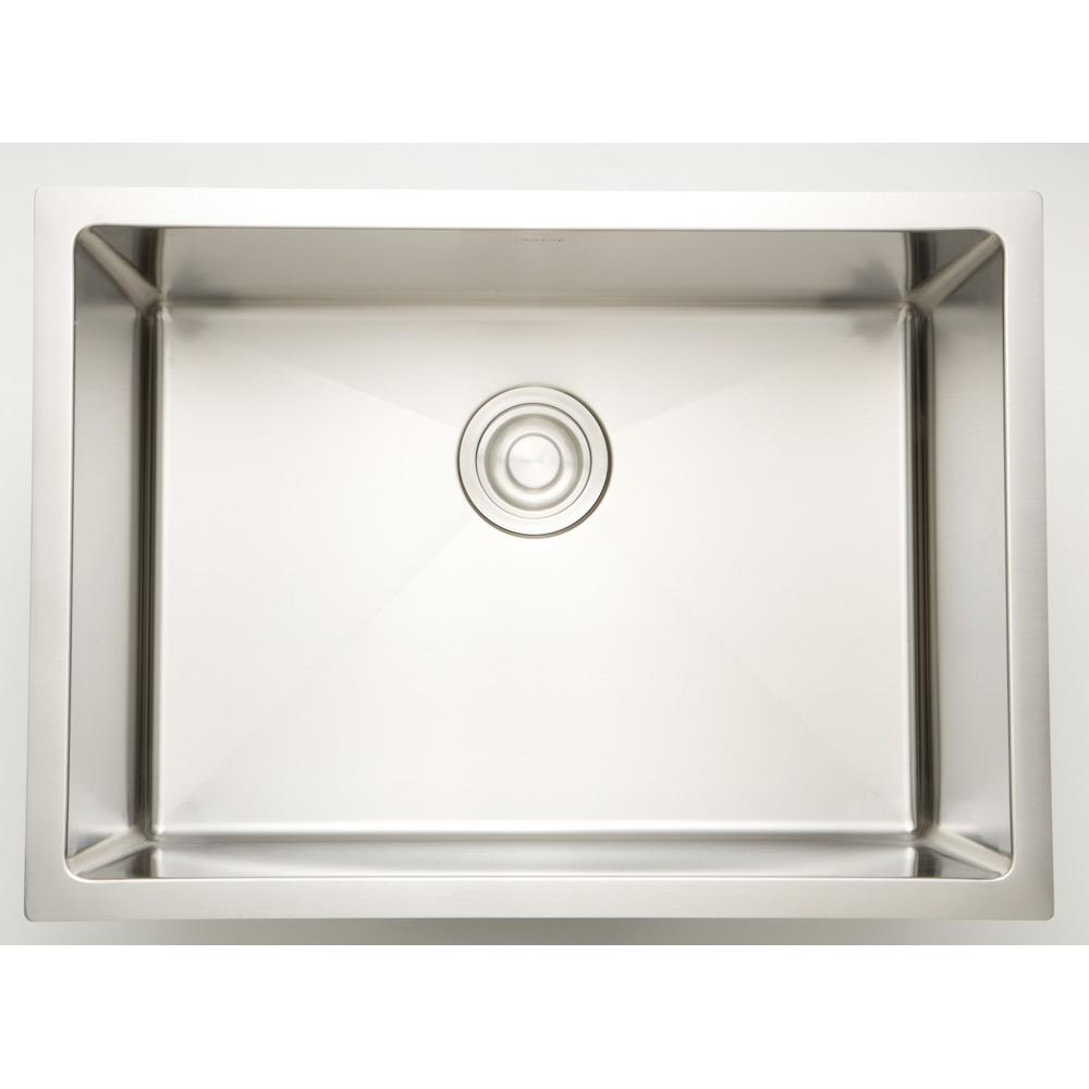 American Imaginations Ai 27443 27 Inch Undermount Kitchen Sink For Deck Mount Center Drilling