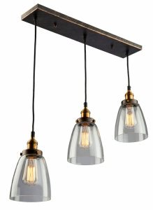 Artcraft Lighting-AC10160-Greenwich - 3 Light Pendant  Bronze/Copper Finish with Clear Glass
