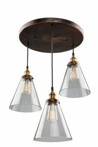 Artcraft Lighting-AC10167-Greenwich - 3 Light Pendant  Bronze/Copper Finish with Clear Glass