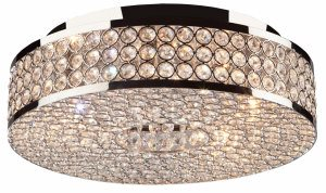 Artcraft Lighting-AC10315-Bella Vista - 5 Light Flush Mount  Chrome Finish with Clear Crystal