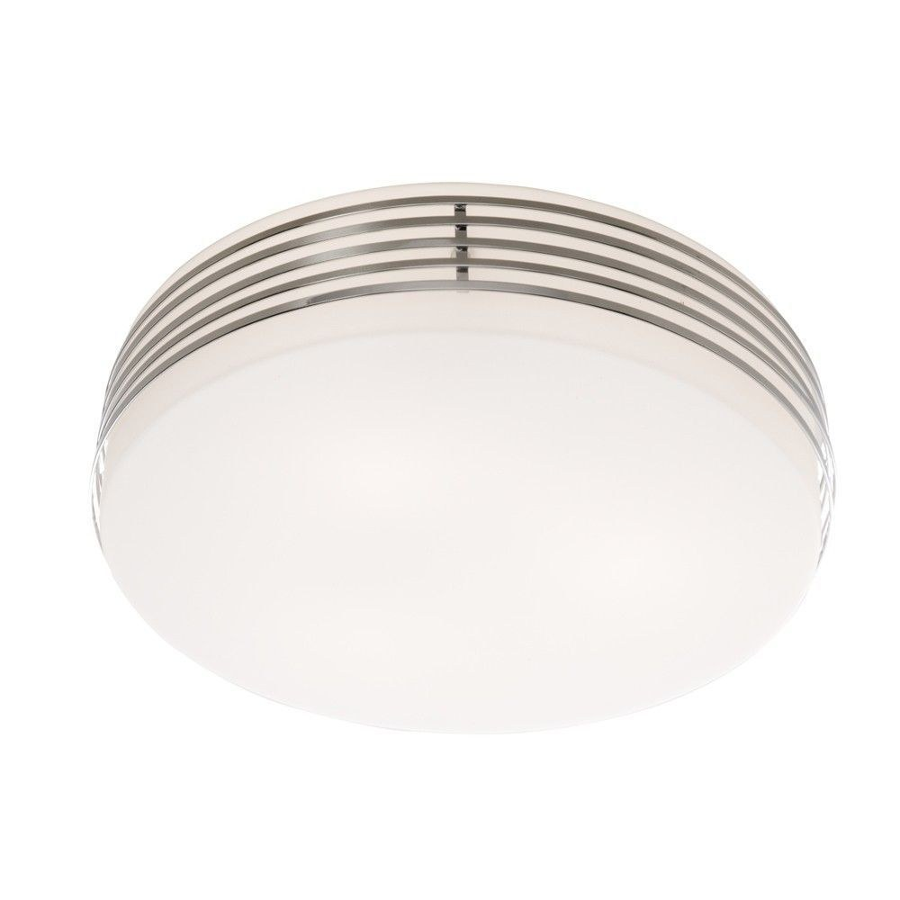 Artcraft Lighting-AC2172-3 Light Flush Mount  Chrome Finish with White Glass