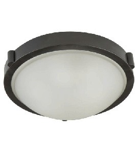 Artcraft Lighting-AC2313OB-Boise - 2 Light Flush Mount  Oil Rubbed Bronze Finish with Opal White Glass