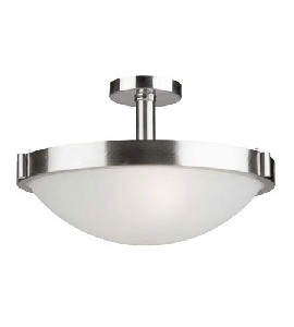 Artcraft Lighting-AC2717BN-Boise - 3 Light Semi-Flush Mount  Brushed Nickel Finish with Opal White Glass