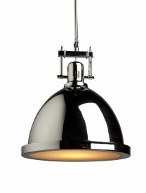 Artcraft Lighting-SC291CH-Broadview - 1 Light Pendant  Chrome Finish with Frosted Glass