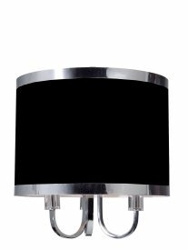 Artcraft Lighting-SC433BK-Madison - Three Light Chandelier  Matt Black Finish with Black Tinted Organza Shade