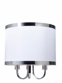 Artcraft Lighting-SC433WH-Madison - Three Light Chandelier  White Finish with White Tinted Organza Shade