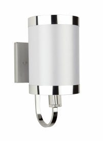 Artcraft Lighting-SC437WH-Madison - 1 Light Wall Mount  White Finish with White Tinted Organza Shade