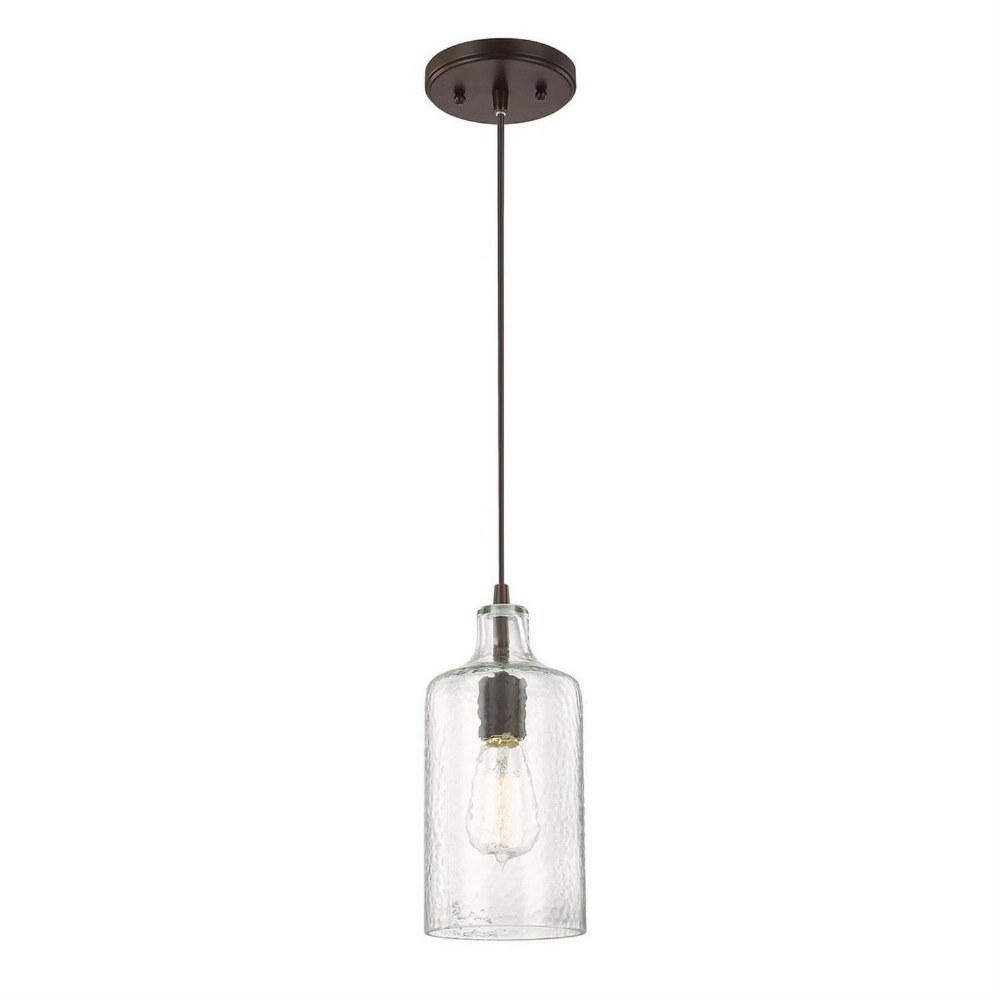 Austin Allen & Co-9B241A-11 Inch One Light Pendant  Burnished Bronze Finish with Clear Textured Glass