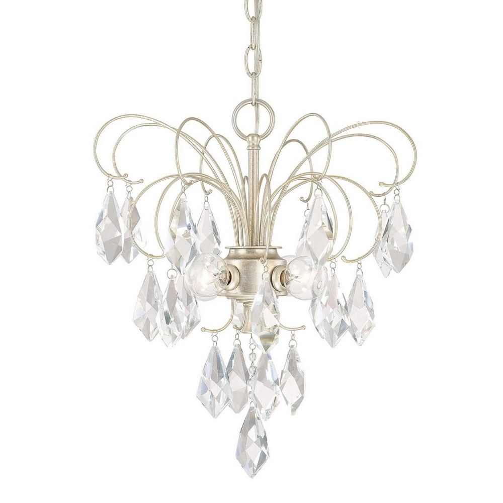 Austin Allen & Co-9B255A-Chloe - Four Light Mini Chandelier  Winter Gold Finish with Clear Crystal