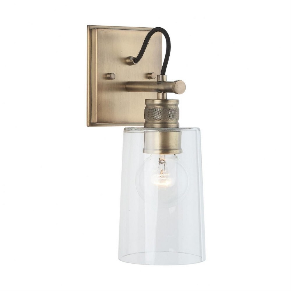 Austin Allen & Co-9D319A-13.5 Inch One Light Wall Sconce  Aged Brass Finish with Clear Glass