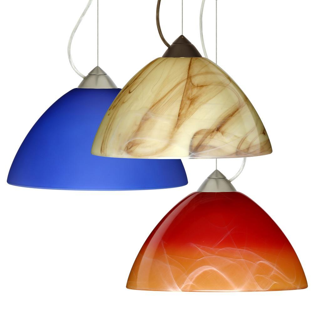 Porto One Light Pendant With Dome 1 Cable Canopy