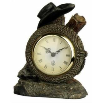 Cal Lighting TA-848CLK Cowboy Resin Table Top Clock