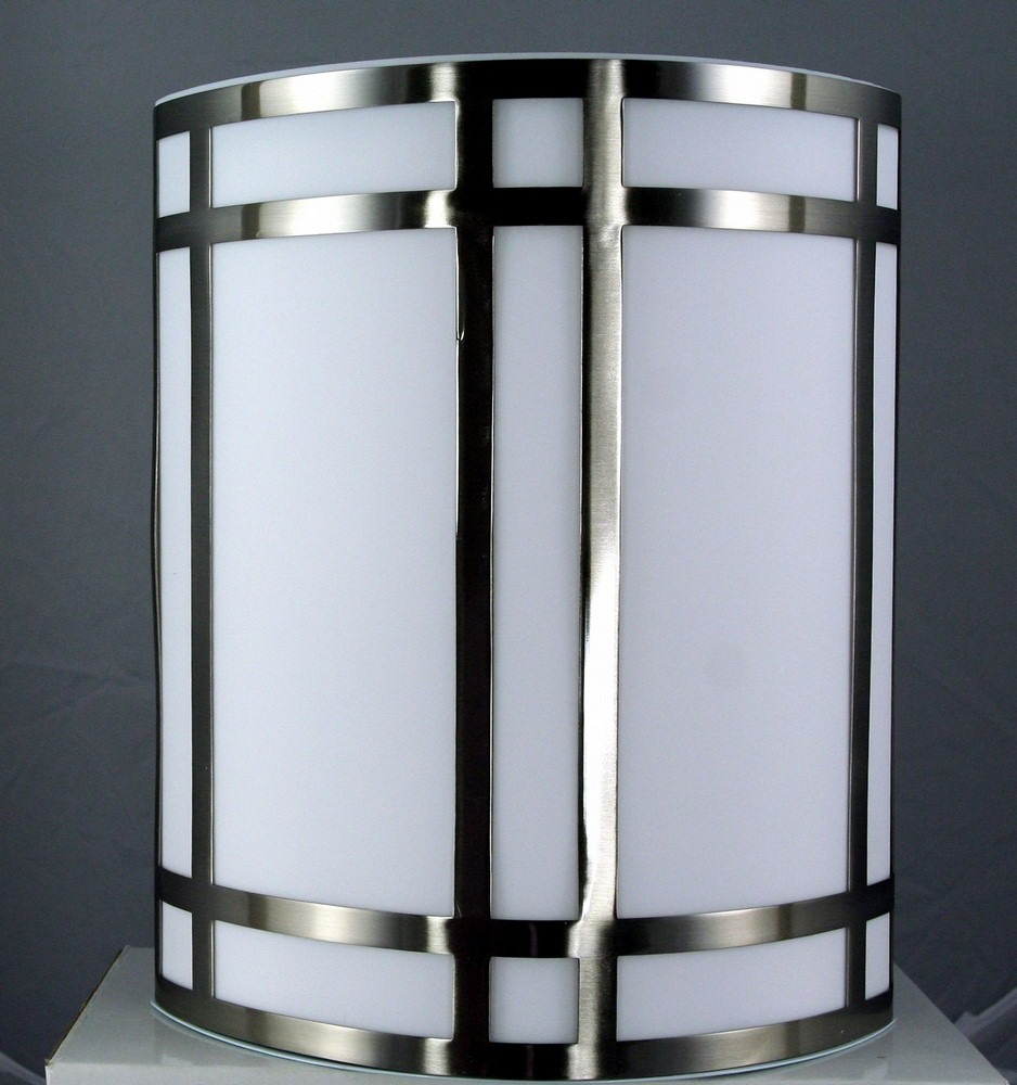 Cal Lighting-LA-162-BS-Elizabethe - One Light Wall Sconce  Brushed Steel Finish