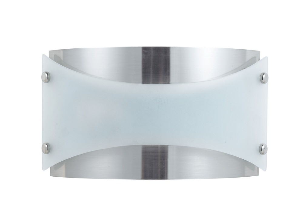 Cal Lighting-LA-164-BS-Elizabethe - One Light Wall Sconce  Brushed Steel Finish