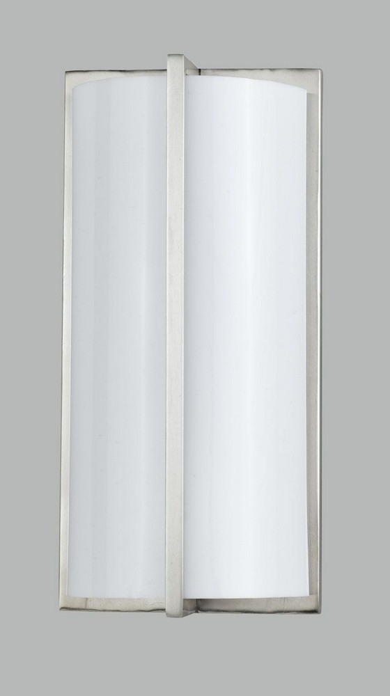 Cal Lighting-LA-177-BS-Elizabethe - One Light Wall Sconce  Brushed Steel Finish