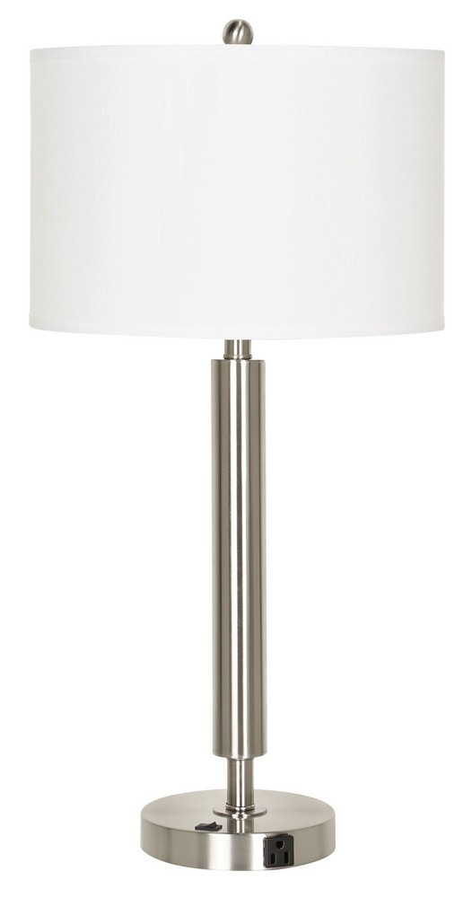 Cal Lighting-LA-2004NS-1RBS-Neoteric - One Light Table Lamp  Brushed Steel Finish
