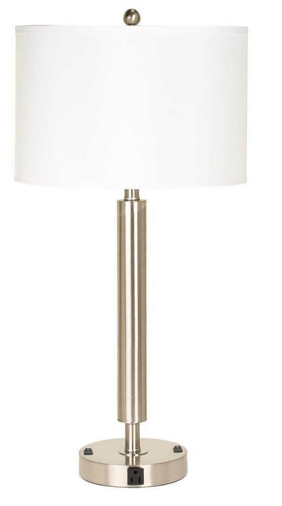 Cal Lighting-LA-2004NS-2RBS-Neoteric - Two Light Table Lamp  Brushed Steel Finish
