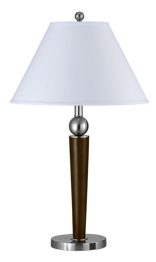 Cal Lighting-LA-8005NS-2RBS-Two Light Fixture  Brushed Steel Finish