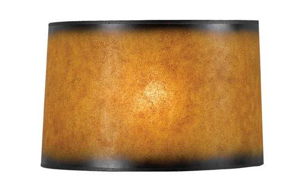 Cal Lighting-SH-1032-Accessory - Shade Only  Drum Crackel Paper Finish