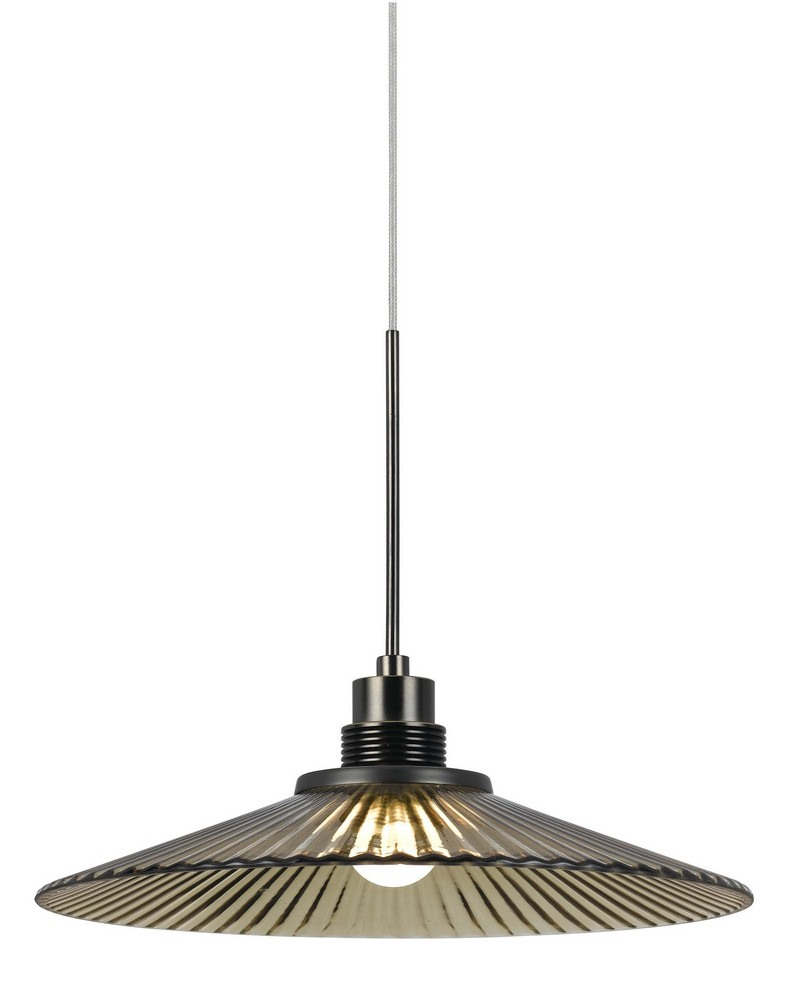 Cal Lighting-UPL-715-AM-LED Pendant  Amber Finish